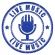 Stock Photo: Live music stamp