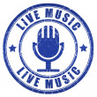 Live music stamp — Stockfoto #20996733