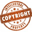 Stock Photo: Copyright stamp
