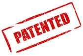 Patented stamp — Stock Photo