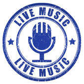 Live music stamp — Stock Photo