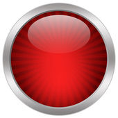 Red glass icon — Stock Photo