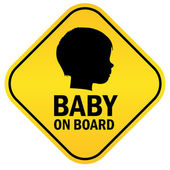 Baby on board — Stock Vector