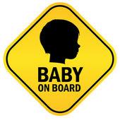 Baby on board — Stock Vector