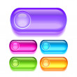 Stock Vector: Vector glassy buttons