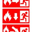 Fire danger signs — Stock Vector