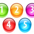 Numbers vector buttons — Stock Vector