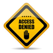 Access denied vector sign — Stock Vector