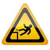 Fall danger — Stock Vector