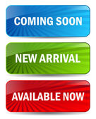 Vector coming soon banners — Stock Vector