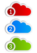 Numbered cloud shapes — Stock Photo
