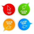 Click here stickers — Stock Vector #22014161