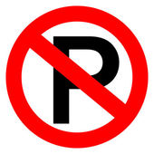 No parking vector sign — Vettoriale Stock