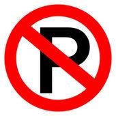 No parking vector sign — Stock Vector