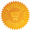 Bestseller gold seal — Stock Photo #22522957