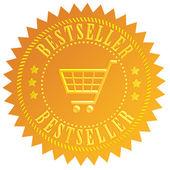 Bestseller gold seal — Stock Photo