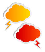 Cloud speech bubbles — Foto Stock