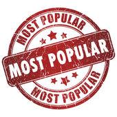 En popüler damgası — Stok fotoğraf