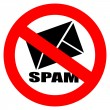 No spam vector sign — Stock Vector #22523035