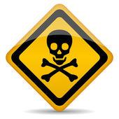 Skull vector sign — Stock Vector