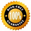 Stock Photo: Risk free guarantee label