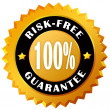 Risk free guarantee label — Stock Photo