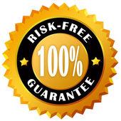 étiquette de garantie libre de risque — Photo