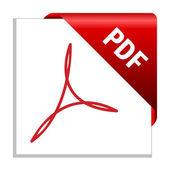 Pdf のシンボル — ストックベクタ