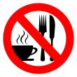 Royalty-Free Stock Vector Image: No eat and drink vector sign
