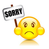 Sorry smiley — Stock Vector