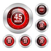 Icone vettoriali timer — Vettoriale Stock