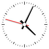 Vector clock illustration — Vettoriale Stock