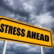 Stress ahead sign - Stock Photo