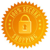 Secure shopping icon — Stock Photo