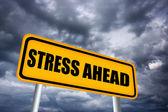 Stress framåt tecken — Stockfoto