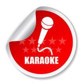 Karaoke vektor etikett — Stockvektor