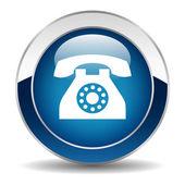 Vector phone button — Stock Vector