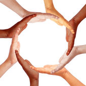 Hands circle — Stock Photo