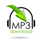 Mp3 download — Stock Vector