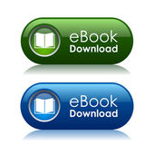 Ebook download icons — Stock Vector