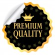 Vector premium quality sticker — Stock Vector