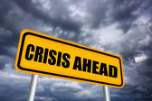 Crisis ahead — Stock Photo