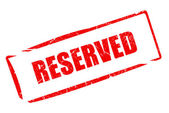 Reserved stamp — Stock Photo