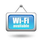 Wi-fi available sign — Stock Photo
