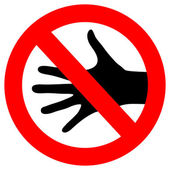 Vector do not touch sign — Stock Vector