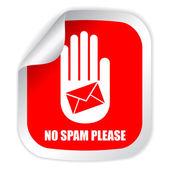No spam — Stock Vector