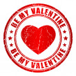 Be my valentine vector stamp - Stockvectorbeeld