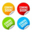 Stock Vector: Vector coming soon labels