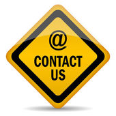 Contact us vector sign — Stock Vector