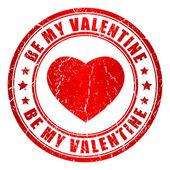 Be my valentine vector stamp — Stock Vector